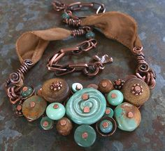love the organic feel to this...and the colors... would love to try this with polymer