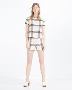 CHECK TOP-View All-TOPS-WOMAN   ZARA United States