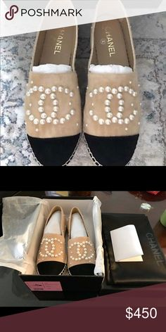 0b19971a5990 Chanel Espadrilles size 37 6.5 USA new For Sale Chanel Espadrilles size 37  6.5