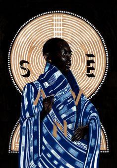 Art direction, identity, graphic design & illustration for Sanvê — Paris. Art Afro, African Art Paintings, Contemporary African Art, Black Girl Art, Art Et Illustration, Inspiration Art, Black Artists, Art Moderne, Art Design