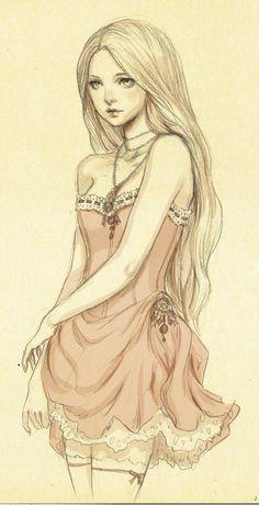 So pretty!!  fadeddreamss sketch by JDarnell.deviantart.com on @deviantART