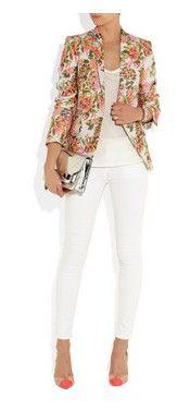 Summer-ize A Winter Blazer With Florals