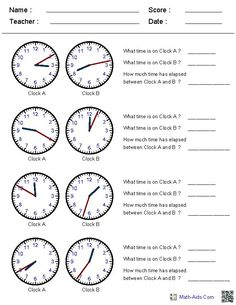 Telling Time Printable Games, Activities and Songs for First ...