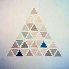 TRIANGLES (serie n° 02) 2013  http://www.marucarranza.com/category/paper/   #triangle #paper #collage triangle serie n° 001 maru carranza 2013 #art #installation #marucarranza #berlin