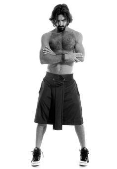 Jupe de l'exposition 'Hombres con falda' de Roger Salas.