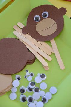 """Monkey Craft - """"Mr. Nilsson"""" Craft - Pippi Longstocking Birthday Party by Heather Tycksen"""