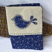Papiernictvo - Vtáčatko z modrotlače - 2817825