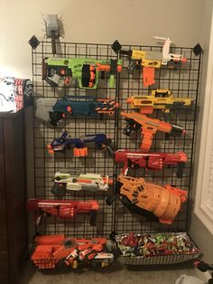 How To Build A Nerf Gun Wall With Easy Follow Instructions Guns Walls And