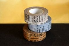 Cute Oldbook style Japanese Washi Masking Tape. This one is perfect for collage and can be used for scrapbooking, gift wrapping and packing embellishment.  20mm x 15m - acid free / archival safe $6.00
