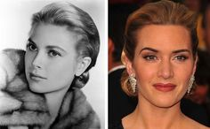 Then there's the Grace Kelly side bun and swept back hair on top. This oozes elegance & sophistication. It's easily achieved with short to shoulder-length hair. Grace Kelly & Kate Winslet.