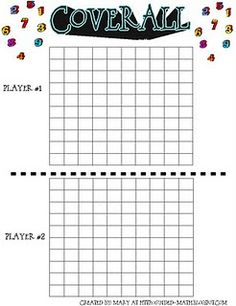 Multiplication game - other great games and math ideas too.