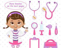 Doctora juguetes digital clipart, Doctor clip art para uso personal y comercial por ClipArtopia