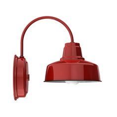 """8"""" Esso Wall Sconce, 455-Cherry Red"""