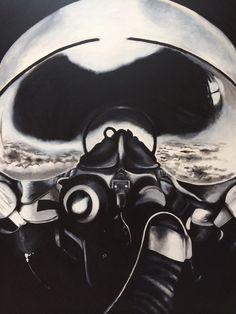 F16 pilot  1.20m x 1.m Acrylic