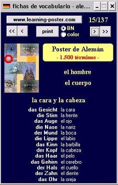 alemanadas.com: Fichas de vocabulario alemán-español.