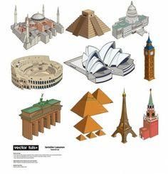 Famous Landmarks Vector pack