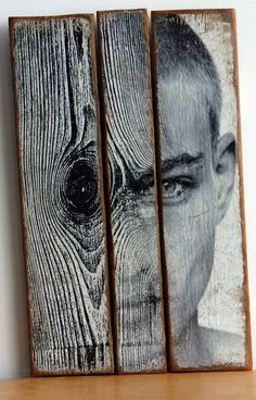 ANTONIO MORA (aka mylovt) ~ a Spanish artist who combines with talent portraits photographed in various landscapes. Wood Sculpture, Sculptures, Art Visage, Wow Art, Pallet Art, Portrait Art, Amazing Art, Art Projects, Art Photography