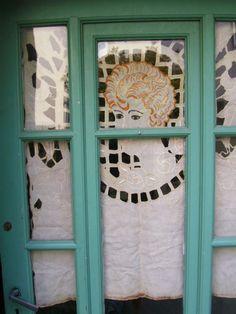 superb belle epoque art deco window panel by ententecordiale, $160.00