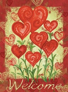 Toland Home Garden 112585 Garden Hearts Decorative Garden Flag, 12.5 by 18-Inch by Toland Home Garden. $11.99. All Toland Flags are machine washable and UV, mildew, and fade resistant; Toland Flags are Heat Sublimated to permanently dye fabric for long lasting color; Sublimated Flag made from 600 denier polyester fabric; Decorative flags by Toland feature licensed artwork that is favored by flag flyers; Garden Flag Size: 12.5 inches by 18 inches. The Garden Hearts Garden Fl...