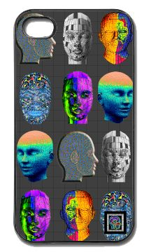 """""""Wire Your Head""""(c) on an iPhone cover.  (c) 2013 Textiles for Thinkers, LLC.  All Rights Reserved."""
