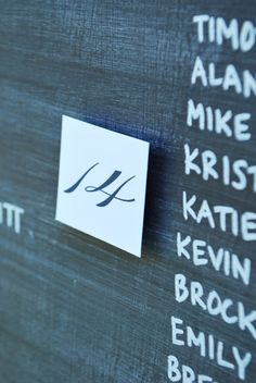 custom #chalkboard #escort #seating #chart for #wedding and special events by Express Yourself.