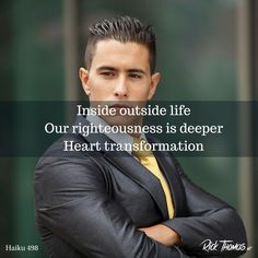 If we are in Christ, we gain from His perfection. The Lord sees you perfected through the works of Christ. Inside Outside, You Are Perfect, Righteousness, Haiku, Christ, The Outsiders, Life, Haikou, Indoor Outdoor