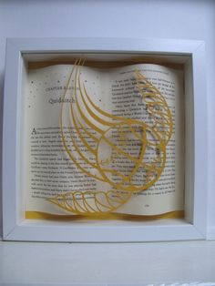 Quidditch - Harry Potter framed art - paper cutting - Harry Potter gift - book lovers gift by PaversPaper on Etsy