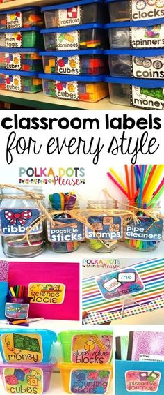 These lables keep my classroom organized and beautiful! I love the matching pictures so kids can help clean up too!