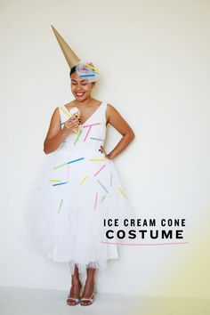 DIY: ice cream cone costume by MichaelsMakers CAKIES ***This is what I want to do for Halloween this year!