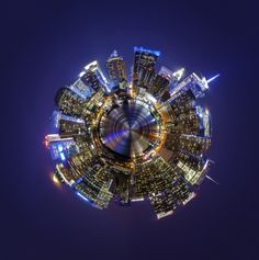 Planet New York by Bart on Panoramic Photography, Little Planet, New York City, Planets, Fair Grounds, Beauty, New York, Nyc, Beauty Illustration