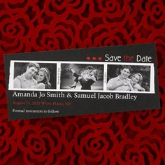 Filmstrip Save the Date Card 40% OFF  |  http://mediaplus.carlsoncraft.com/Wedding/Save-the-Dates/NB-NBP42I8J-Filmstrip--Save-the-Date-Card.pro