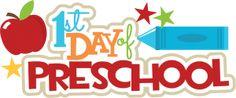 1st Day Of Preschool SVG scrapbook title crayon svg file free svgs school svg cut files