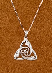 Triskelion Trinity Knot Pendant - Made in Ireland.  Such a beautiful reminder of our Father, Son and Holy Spirit!