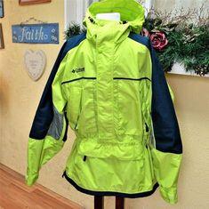Columbia Men L 1/2 Zip Pullover Anorak Jacket Color Block Shell Pockets LS Retro #Columbia #BasicJacket