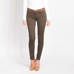 Skinny Denim Brown now featured on Fab.
