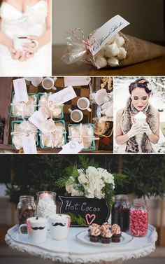 hot chocolate bar complete with Baileys?  maybe for the wedding party instead of mimosas. ...