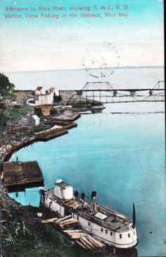 Entrance to the Mira River, Cape Breton, Nova Scotia, 1910 Glace Bay, Cape Breton, Coal Mining, Nova Scotia, Entrance, Photos, Pictures, Canada, Tours