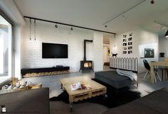 Salon styl Skandynawski - zdjęcie od ELEMENTY - Pracownia Architektury Wnętrz