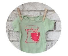 Mixer Onepiece Organic Baby Clothing Mint Green by CausticThreads, $20.00