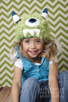 Ravelry: Fuzzy Monster Hat Pattern pattern by Sweet Kiwi Crochet Kandice Oster