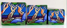 "Tree Cane # 28 ""Snow Gums 1"" made in Polymer clay by Wendy Jorre de St Jorre"