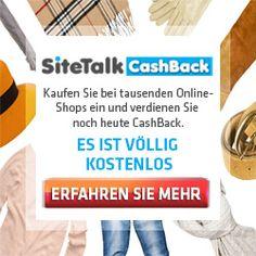 Cashback erhalten beim Onlineeinkauf - Melden Sie sich bei Sitetalk CashBack an und verdienen Sie beim Shoppen!