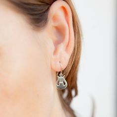 Harp Earrings - Finesse Studio Online Boutique Harp, Online Boutiques, Drop Earrings, Sterling Silver, Studio, Handmade, Stuff To Buy, Beautiful, Jewelry