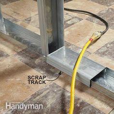Track scrap covers sharp edges of floor track
