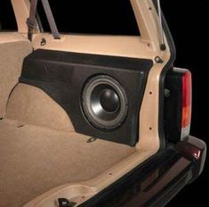 Gauging Interest: Rear Custom-fit Sub Box Jeep Street and Performance Cherokee Sport, Jeep Cherokee Xj, Jeep Xj Mods, Jeep Wj, Jeep Truck, Custom Subwoofer Box, Vw Pointer, Custom Car Audio, Car Stereo Speakers