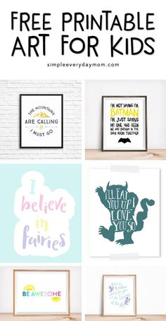 Free Nursery Art Prints That Will Save You Money Nursery Wall Art Kids Wall Decor, Kids Room Wall Art, Nursery Wall Art, Boy Wall Art, Nursery Decor, Nursery Prints, Girl Nursery, Girl Room, Room Decor