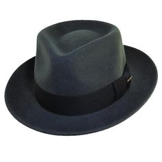 BeltOutlet.com - Dorfman Pacific Mens Crushable Wool Felt Fedora Hat