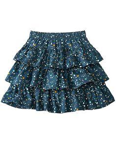 Girls Ruffle & Twirl Skirt size 110 #HannaAndersson.