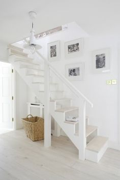 open staircase for the addition.  just gotta kid-proof the open spaces. or maybe a half wall on the open side.