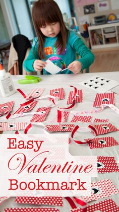 Promote reading and celebrate Valentine's day with these easy Valentine bookmarks that kids can make.